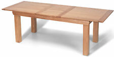 FRENCH RUSTIC SOLID OAK LARGE EXTENDING DINING TABLE
