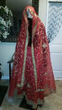 Bollywood  Designer Red Wedding Lehenga Sari Saree Indian Cloth