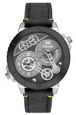 s.Oliver Herren-Armbanduhr XL Analog Quarz Leder SO-2948 Armbanduhr , Uhr