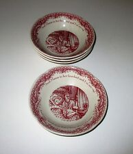 Johnson Brothers Twas the night before Christmas 4 Fruit Dessert Bowls NWT