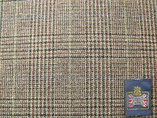 100% Pure New Wool Glen Check Tweed Design Fabric with Overchecks 2.0 m