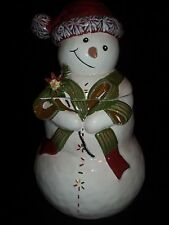 TRACY PORTER JINGLE BELL COLLECTION SNOWMAN COOKIE JAR