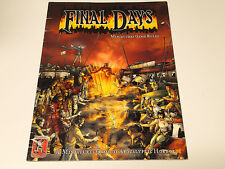 FINAL DAYS Game Rules: A Miniatures Game of Apocalyptic Horror 2004 K&C7001