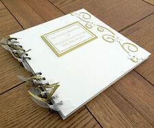 50th Golden Wedding Anniversary Guest Book Photo Memory Album Scrapbook
