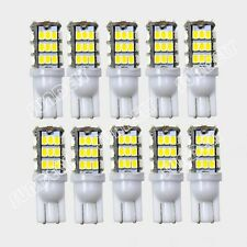10-PCS Warm White Car RV T10 Wedge 42-SMD 194/168 High Mount Stop LED Lights