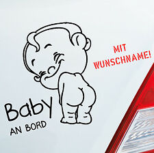 Autoaufkleber Baby an Bord on Tour Name LUSTIG Wunschname Kids Aufkleber 224