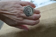 Silpada Etched Sterling Silver Cubic Zirconia Legacy Ring SZ 6.5 R2787 Retired