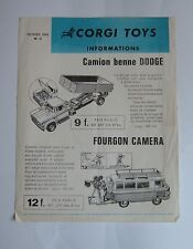 Raro francés Corgi Toys/Playcraft carta de noticias, con fecha de febrero de 1968-Excelente.