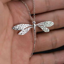 Women Charms Silver Plated Dragonfly Necklace Pendant for Xmas Gift Popular