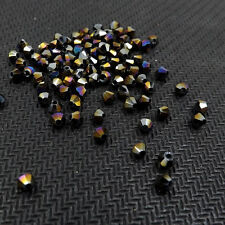 #5301 Fashion DIY jewelry 3mm Glass Crystal Bicone bead 1000pcs (black AB )