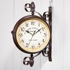 Popular Antique Wall Clock Hallway Garden Outdoor Station Double Sided Wall Gift