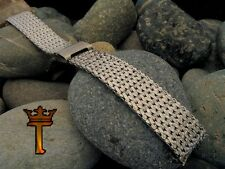 """Stainless Steel Mesh USA Made New Old Stock 1960s Vintage Watch Band nos 11/16"""""""