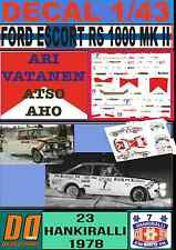 DECAL 1/43 FORD ESCORT RS 1800 MK II A.VATANEN HANKIRALLI 1978 (FULL) (02)