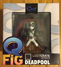 NEW NIP White Deadpool X-Force Q-Fig Statue Lootcrate Exclusive Variant Figurine