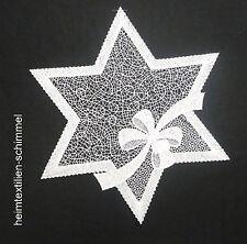 PLAUENER SPITZE ® Tischdeckchen WEIHNACHTEN Deckchen STERN Tischdecke 32cm Deko