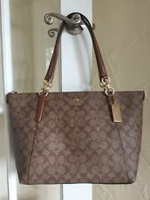 Coach F58318 Signature Ava Tote Khaki Saddle