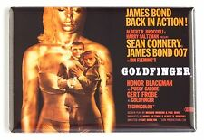 Goldfinger FRIDGE MAGNET (2 x 3 inches) quad movie poster james bond