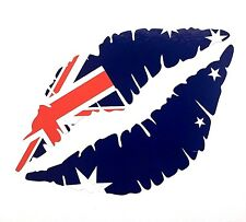 AUSTRALIAN FLAG Lips 12.5cm Car Sticker Iphone Ipad Wall Art Australia V8 MG AUS