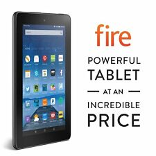 Amazon Kindle Fire 7 inch IPS 8 GB Black Front & Rear Camera New 2016 Model New