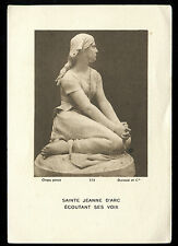 ANTIQUE HOLY CARD OF ST JOAN OF ARC
