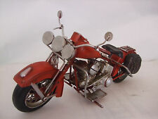Tin Plate Model of a Red American Motorcycle /Ornament /Gift