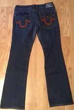 WOMENS TRUE RELIGION JEANS-30x31-LEATHER ON POCKETS--ONLY ONE ON EBAY