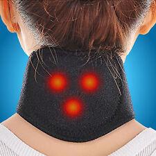 2 Pcs Tourmaline Health Self-Heating Neck Brace Pad Support Strap Pain Relief SG