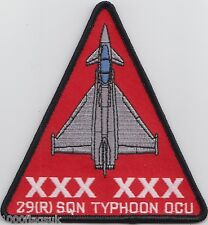 RAF no. 29 Squadron Typhoon OCU Royal Air Force Embroidered Crest Badge Patch