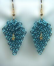 Chain Maille  Earrings with Aurum Crystal