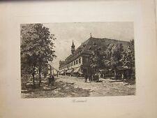 1890 MONTBÉLIARD Eugène Sadoux acquaforte originale d'epoca Doubs Franche-Comté
