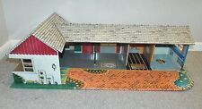 Vintage 1950s-60s MARX Toy Metal Tin Litho Ranch Dollhouse Made in USA