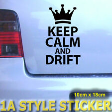 KEEP CALM AND DRIFT STICKER JDM AUTOAUFKLEBER WINTER AUTO 4X4 DUB WINTERREIFEN