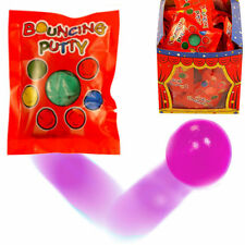 12 x BOUNCING PUTTY PACKS HOMEMADE CHRISTMAS CRACKER PARTY BAG TOYS T14 260