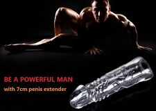 Condom, Penis 7cm Solid Top Enlarger Extender Sleeve, Erection Impotence Aid