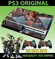 PLAYSTATION PS3 OLD SHAPE MARY JANE SPIDERMAN GIRL STICKER SKIN & 2 PAD SKINS