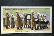 Royal Marines Band   Funeral March    Vintage Colour Card # VGC