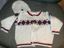 Nanette Cardigan Gray Sweater with Cap Size Boys 6/9 months
