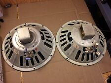 Pair of Vintage Oxford 12HB-15 12-inch Alnico Woofers 1969 8-ohm Guitar Speakers