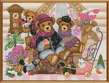 "Counted Cross Stitch Kit NOVA SLOBODA - ""Bear's House"""