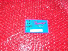 Flamingo Magic Card Flamingo Hilton Laughlin  Punch Holes  teal with pink trim