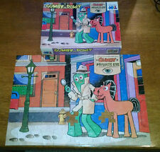 "Vintage 1985 Gumby and Pokey ""Private Eye"" 100 Piece Jigsaw Puzzle"