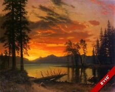 SUNSET IN CALIFORNIA GOLD SIERRA WILDERNESS OIL PAINTING ART PRINT REAL CANVAS