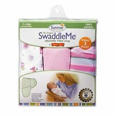 Summer Infant SwaddleMe Cotton Knit 3-Pack, Small/Medium, Girly Bug