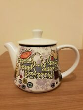 At Home With Ashley Thomas White sewing box design Tea Pot