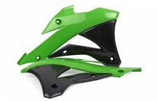 Polisport Plástico Radiador cucharada para Kawasaki KX85 14-16 - Verde/Negro