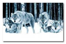 Wolf Pack QUALITY Canvas Art Print Poster
