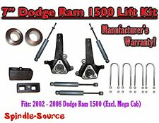 "2002 - 2008 Dodge Ram 1500 2WD 7"" Front 3"" Rear Spindle Lift Kit WITH SHOCKS"