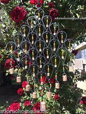 Large Iron Windchime 34 Bells Beads Recycled Metal Rustic Garden Indoor Outdoor