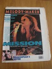 MELODY MAKER 1989 AUGUST 26 MISSION SUGARCUBES TEARS FOR FEARS NEW MODEL ARMY