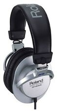 New Roland Stereo Monitor Headphones RH-200S Silver Japan import With Tracking